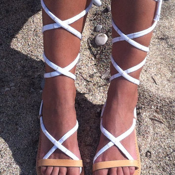 lace up sandals, handmade leather sandals