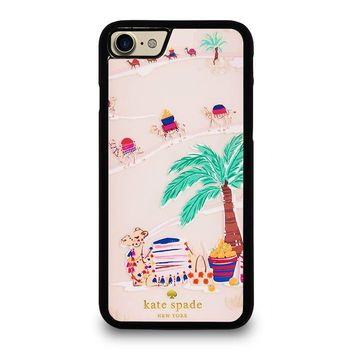 KATE SPADE DESERT CAMEL iPhone 4/4S 5/5S/SE 5C 6/6S 7 8 Plus X Case