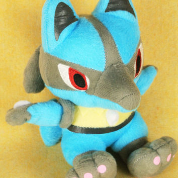 "Pokemon Lucario Plush Doll Pokemon / Pocket Monster 5"" Adorable Stuffed Toy Kids Cute"