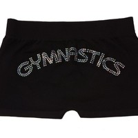 Lizatards Gymnastics Stretch Shorts in Black - Juniors