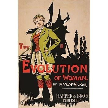 evolution of woman HARRY WHITNEY MCVICKAR vintage mag cover poster 24X36