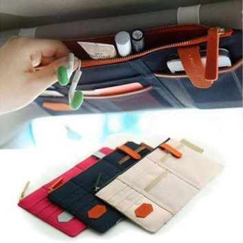 ESBON9X Sun Visor Point Pocket Organizer Pouch Bag Pocket Card Storage Holder
