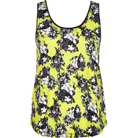 River Island Womens Yellow floral print scoop neck tank