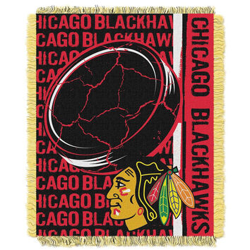 Chicago Blackhawks NHL Triple Woven Jacquard Throw (Double Play Series) (48x60)