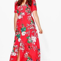 Plus Isla Floral Print Maxi Dress | Boohoo