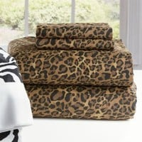 Brylanehome 300 Thread Count Leopard Sheet Set (Leopard,Queen)