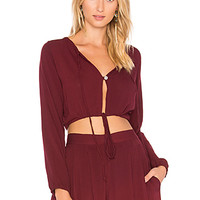 Cleobella Reed Top in Burgundy | REVOLVE