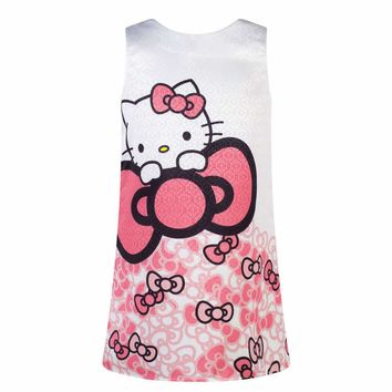 2017 Baby Girls Dresses Elsa Dresses For Girls Princess Christmas hello kitty Clothes Dress Kids Vestido Menina