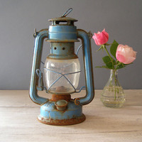 Vintage Lantern Lamp Sun Way Railroad lamp by MeshuMaSH on Etsy