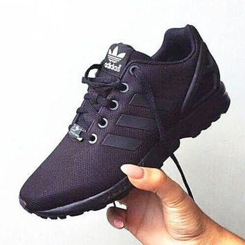 DCCKIJG Adidas' Fashion Women ZX FLUX Running Sport Casual Shoes Sneakers Black