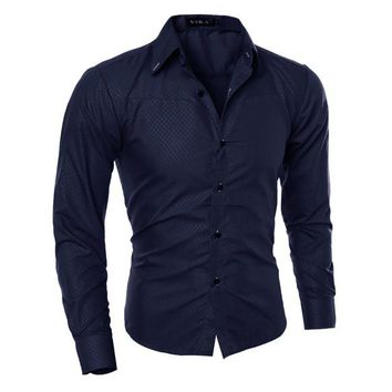 Men's Fitted Button Down Shirt