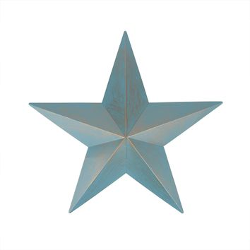 3' Weathered Patina Copper Country Rustic Star Indoor/Outdoor Wall Decoration