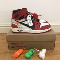 DCCKIN2 NIKE x OFF WHITE AIR JORDAN 1 THE 10 VIRGIL ABLOH 100% AUTHENTIC SIZE UK10/US11