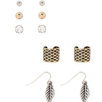 FOREVER 21 Earcuff Earring Set Burnished Gold One