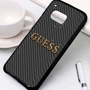 Guess Watches Logo Carbon Samsung Galaxy S6 Edge Auroid