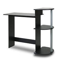 Contemporary Computer Desk in Black & Grey Finish