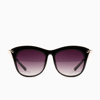ShopSosie Style : Gaze Out Sunglasses in Black