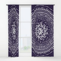 Indian Mandala Window Curtains by famenxt