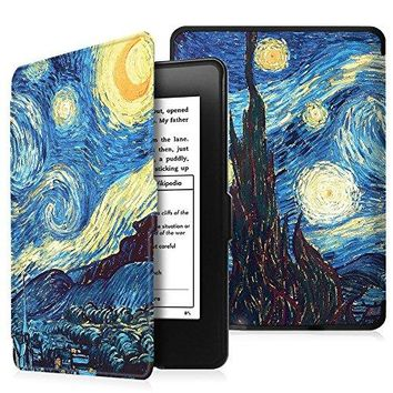 Fintie Case for Kindle Paperwhite - Premium Thinnest and Lightest PU Leather Cover With Auto Sleep/Wake for All-New Amazon Kindle Paperwhite (Fits All 2012, 2013, 2015 and 2016 Versions), Starry Night