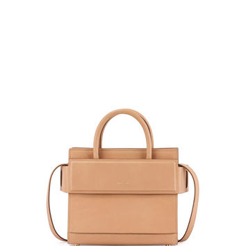 Givenchy Horizon Mini Leather Satchel Bag, Beige