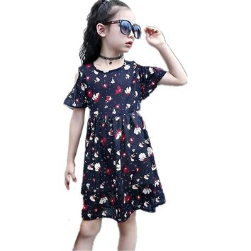 2017 New Arrival Girl Dress Clothing Princess ball gown Floral Bow Sleeveless Lolita Girls Dresses Party Dress Children Costume