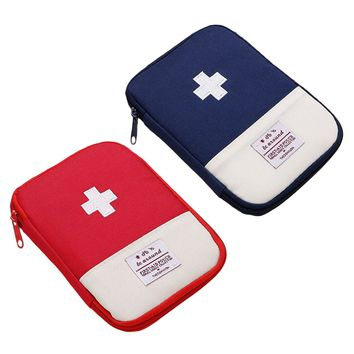 First Aid Emergency Medical Bag Camping Outdoor Survival Kit Medicine Drug Pill Box Home Storage Case Small supervivencia Pouch
