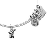 Alex and Ani Horse Saddle II Kentucky Derby Bangle Russian Silver