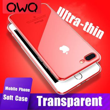 Ultra Thin Soft Transparent TPU Phone Cases For iPhone 7 Case 6 6s 8 Plus 8Plus 7Plus Silicone Full Cover For iPhone X 5 5s se