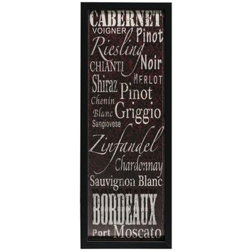 Wine Typography Shadowbox (1086) - Illuminada