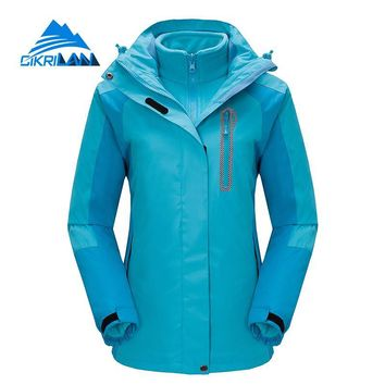 2018 Hiking Ski Snowboard Sportswear Coat Windproof Waterproof Outdoor Winter Jacket Women Camping Chaquetas Mujer Fleece Liner