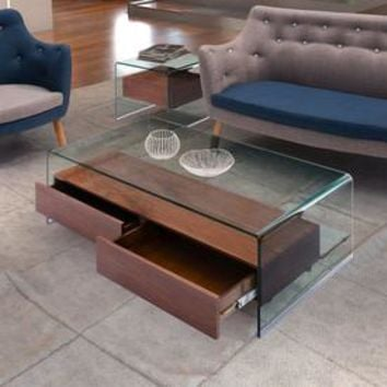 Shop Zuo Modern Shaman Clear Glass Coffee Table at Lowes.com