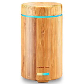 URPOWER Real Bamboo Essential Oil Diffuser Ultrasonic Aromotherapy Diffusers Cool Mist Aroma Diffuser...