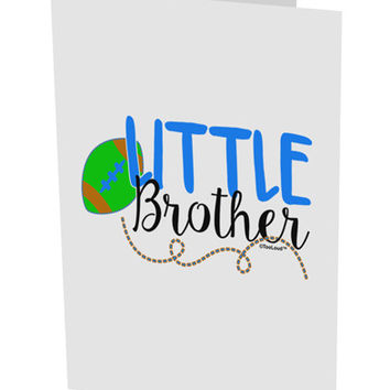"Little Brother 10 Pack of 5x7"" Side Fold Blank Greeting Cards"