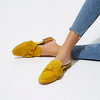 Yellow bow front backless loafer - Shoes - Shoes & Boots - women