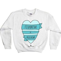 Feminism is Freedom -- Youth Sweatshirt