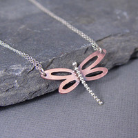 Dragonfly Copper Pendant by HapaGirls on Etsy