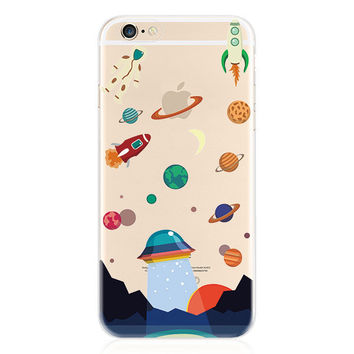 Space Aliens and Astronauts Case for iPhone Fun