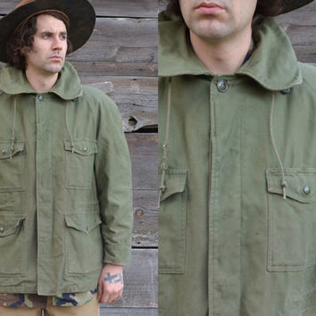 Vintage Rare John Ownbey Co Vietnam M-51 Field USAF Army Parka Jacket Shawl Collar Field Deck Coat