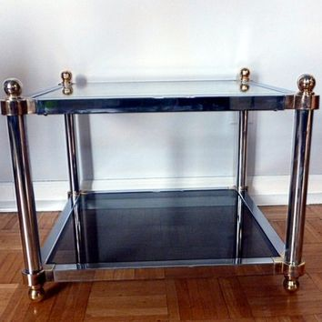 Chrome and Glass Mid Century End Table