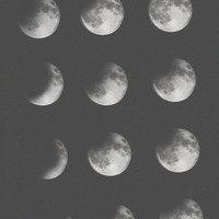 phases of the moon Art Print by Sara Eshak