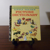 """Vintage 1973 Book """"Little Golden Picture Dictionary"""" - A little Golden Book / Kids Book / Great Condition / Childs First Dictionary"""