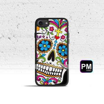 Sugar Skull Dia De Los Muertos Case Cover for Apple iPhone 7 6s 6 SE 5s 5 5c 4s 4 Plus & iPod Touch