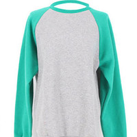 'The Dakota' Long Colored Sleeve Sweatshirt