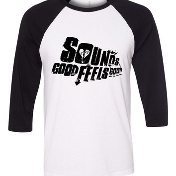 "5 Seconds of Summer 5SOS ""Sounds Good, Feels Good"" Baseball Tee"