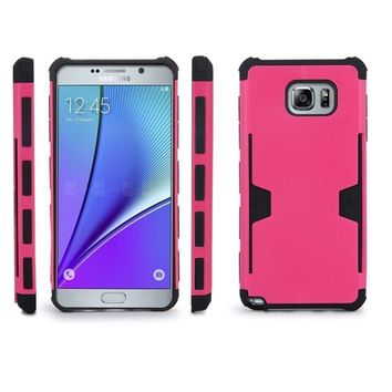 Samsung Galaxy S6 Edge Plus [Impact/Shock Resistant] Hybrid Dual Layer Armor Case w/ Card Slot for Galaxy S6 Edge Plus - Hot Pink