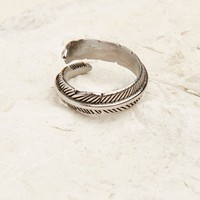 Stainless Steel Wrap Feather Ring