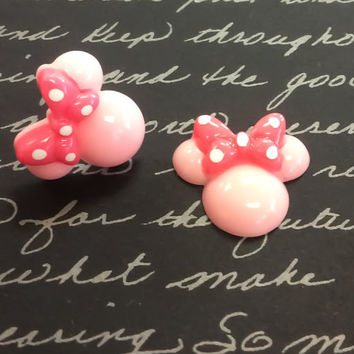 Minnie Mouse Earrings, Disney Inspired Earrings, Teen Girl Gift, DCL, Fish Extended Gift, Disney Vacation, Minnie Earrings