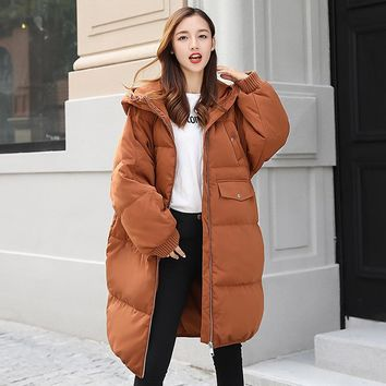 2017 NEWpregnant womens down jacket Cotton female maternity cotton-padded clothes coat fur hooded thick warm winter overcoats