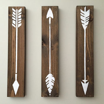 Rustic Wall Decor - 3 Piece Set - Flying Arrows Wall Decor – Arrow Wall Decor - Wood Wall Decor