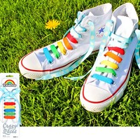RAINBOW & CLOUDS CRAZY SHOE LACES